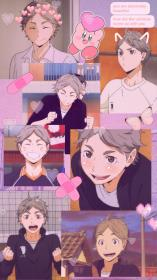 anime lock screen wallpapers aesthetic haikyuu sugawara collage