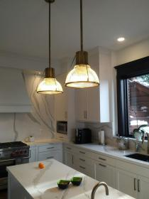 island ceiling library lights brass kitchens