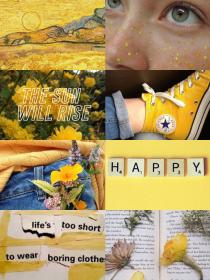 aesthetic collage yellow wallpapers happy hoe pantalla positive fondos backgrounds collages aesthetics theme amarillos gelb orange amarillo iphone colors sun
