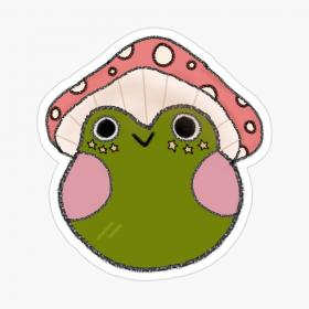 frog drawing redbubble aesthetic mushroom cottagecore stickers sticker indie frogs painting kawaii trippy iphone draw toad froggy hair dibujos auclair