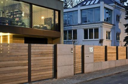fence gate privacy modern wood