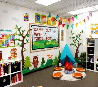 classroom elementary themes woodland theme camping kindergarten decorations friends preschool forest toddler primary displays creativeteaching setting ourprolaw