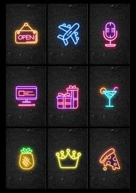 highlight covers neon highlights icons icon