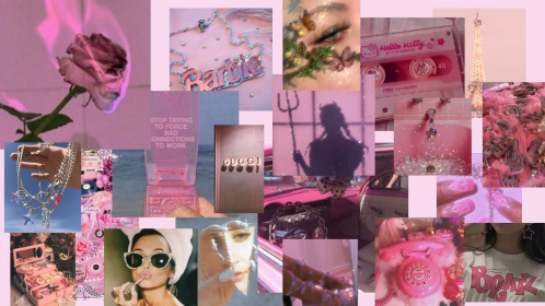 macbook aesthetic collage laptop computer wallpapers desktop soft air notebook pretty birrei dominica barbie