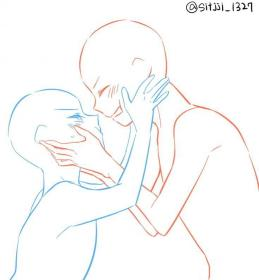 poses anime drawing reference couple base drawings anatomy male body posing uploaded