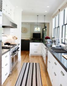 galley farmhouse modern kitchen kitchens remodel layout narrow designs open cabinets floor before windows twoinspiredesign wall becauseitsawesome decor dining remodeling