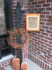 porch sign welcome signs fall diy wreath posts door change porches seasons decor crafts furniture crafted hand craft christmas lovely
