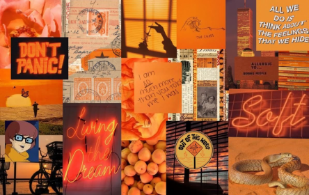 aesthetic laptop wallpapers collage orange desktop pc computer fall retro autumn fondos pantalla collages backgrounds stickers iphone macbook wallpaperaccess cave