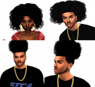 sims curly male female hair hairs afro xxblacksims fro toddler wixsite