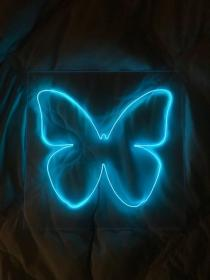 neon aesthetic butterfly sign purple signs collage wallpapers bedroom pastel izzygosper iphone lights outline matter thoughts realizing affection finally deep
