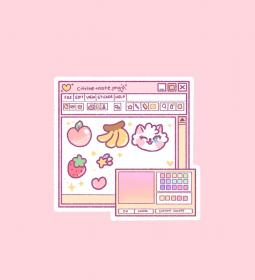 aesthetic pastel kawaii cute pink anime drawings drawing backgrounds wallpapers food box super soft fruit pokemon positively