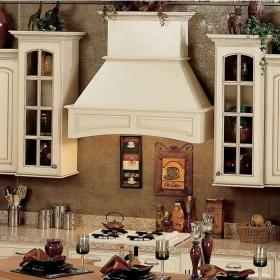 hood range stove wooden inch hoods decorative chimney arched vent country french mount arch hickory island fume national xyz