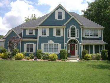 exterior paint colors turquoise nice modern accent choosing combinations houses grey gray schemes teal combos