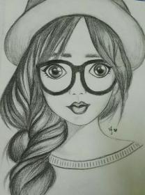 drawings girly pencil easy drawing sketches cool realistic portrait outline uploaded user