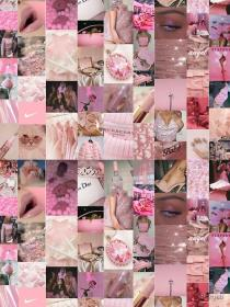 baddie collage aesthetic soft girly iphone bad pastel redbubble wallpapers bedrooms backgrounds led edge teen