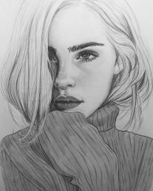 drawings pencil realistic drawing sketches faces easy pretty 4k portrait instagram