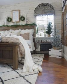 glam farmhouse rustic bedroom master bed christmas decor bedrooms wall yahoo instagram