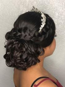 hairstyles updo hairstyle quinceanera quince bridal sweet frizo crown mexican curly garza braided mohawk easy braid elegant makeup robby prom