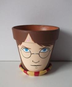 pot pots flower painted clay painting easy harry diy potter designs etsy plant gift paint simple flowers decorelated craft faces