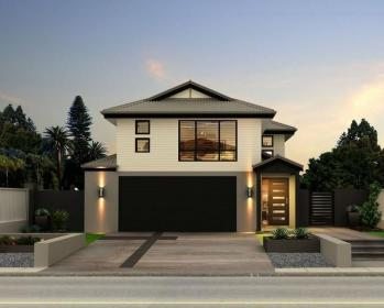 storey double homes garage facade story designs room plan modern houses walk robe very roof functional germaine four bed frontage