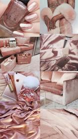aesthetic rose gold collage theme pink wallpapers makeup purple pastel rosa fondos background cor iphone bling parede mode bit lindaa