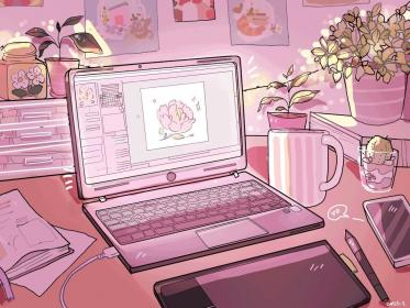 aesthetic anime laptop wallpapers desktop pink special pastel something backgrounds lost