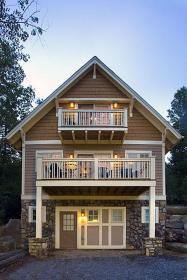 balcony floor second bedroom cottage lake deck architecture master remodel porch creative cabins cantilevered decking open