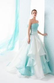 teal dresses pretty tiffany weddings turquoise beach bridesmaid rose ombre gowns le spose shoes flowers sprinkle zankyou asset1 sneha
