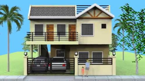 storey simple designs story roof floor plans deck modern building roofdeck plan double bedroom philippine philippines filipino balcony second open