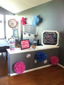 reveal gender party simple baby decorations parties decoration idea board visit wives way boy cute tales balloons shower