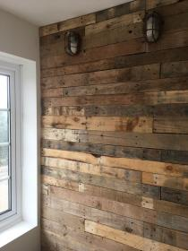 pallet wood rustic cladding wall interior walls office designs texture industrial exterior timber wooden effect clad doors natural lamp outdoor