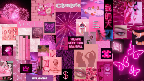 aesthetic neon laptop desktop collage bollywood melanie martinez