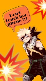 Bakugou bnha wallpaper Dont touch my phone wallpapers