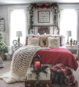 bedroom christmas decor weary rejoices thrill hope rustic winter cozy decorations instagram holiday festive season homeridian visit ginny thankful sunday