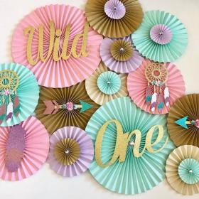 Wild One Themed Backdrop in 2020 Girl birthday themes