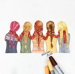 friends drawings friend bff drawing easy amie sketch pretty kawaii forever dessin meilleure pour cute four sketches cool besties cizimler
