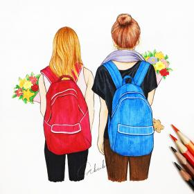 bff drawings friends friend drawing forever bestie sketch draw sketches girly cool friendship pencil stuff cizimler bestfriends going amie mode