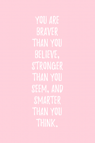 quotes pink motivational inspirational aesthetic quote pastel backgrounds health aesthetics than strong asthetic stay wallpapers grunge seem braver smarter lee