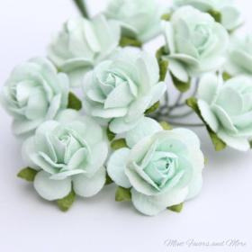 Mint green flower embellishments (With images) Mint