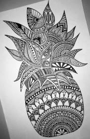 mandala tattoo pineapple drawing doodle detailed perfect gorgeous easy draw mandalas watercolor arm step painting illustrated