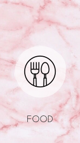 Highlight cover Food Pink and Floral Theme Instagram