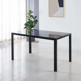 dining tables tempered rectangular legs spaces vik strong walmart