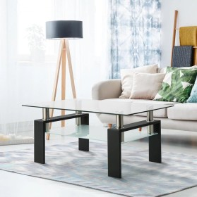 living tables table glass modern coffee rectangle side walmart