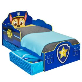 paw patrol bed toddler chase storage mdf official