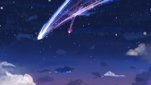 kimi anime wa sky na stars clouds desktop wallpapers backgrounds night background pc laptop wallpapermaiden wall notebook