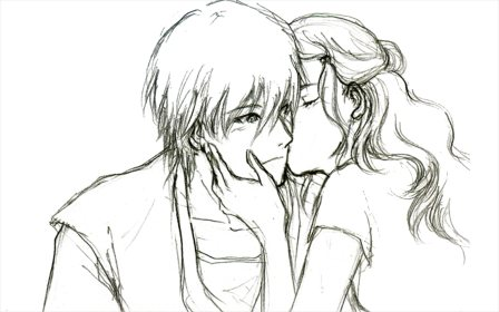 drawing kiss power drawings pencil sketches freecreatives forever hold
