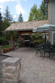 patio paver stone roof costs columns installation pavers patios attached concrete cultured