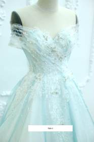 teal tulle