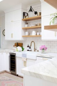 modern farmhouse kitchen glam remodel kitchens open shelving designs paint reveal sources inspiration finishes materials everything know need decor