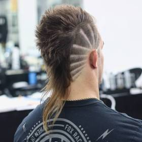 mullet haircut fade mohawk hairstyles tail hairstyle mullets haircuts burst lines types rat menshairstyletrends fox fohawk fades crazy emphasize rays